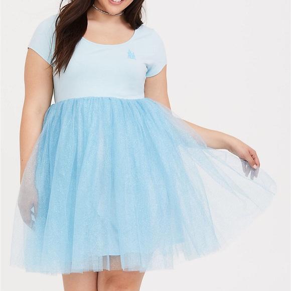 Plus size Disney Cinderella skater dress NWT
